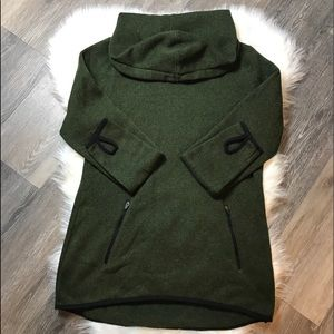 Old Navy Active Green Fleece Hooded Knit Tunic